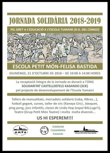 IX Jornada solidària 23 d'octubre 2018