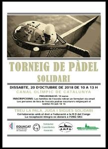 I Padel Solidari 19 d'octubre 2018