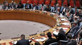 New York, Etats-Unis: Une vue de la salle de réunion du Conseil de sécurité des Nations Unies alors que le Vice-Secrétaire général des Nations Unies, Jan Eliasson, s'adresse au Conseil sur la situation en République démocratique du Congo. Photo ONU/Evan Schneider